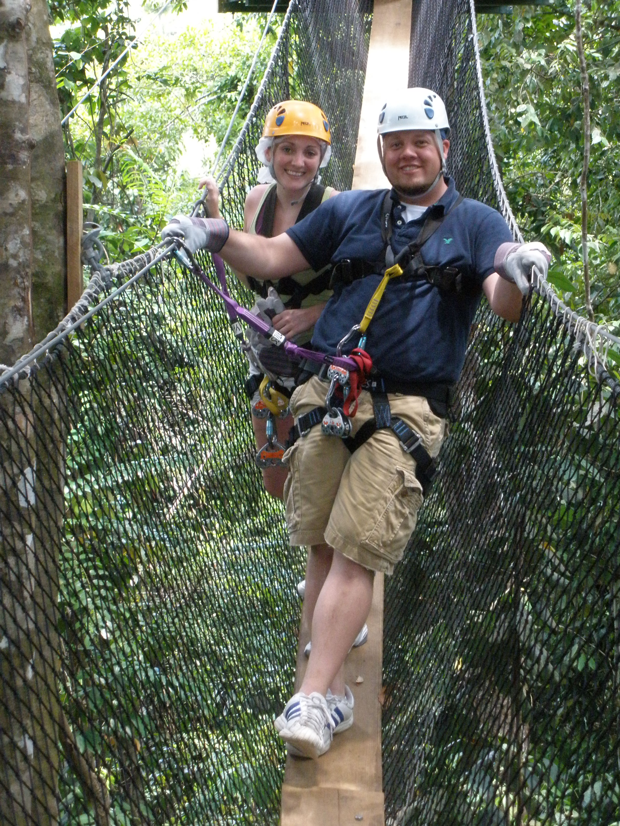 Ziplining through the rainforest, St. Lucia