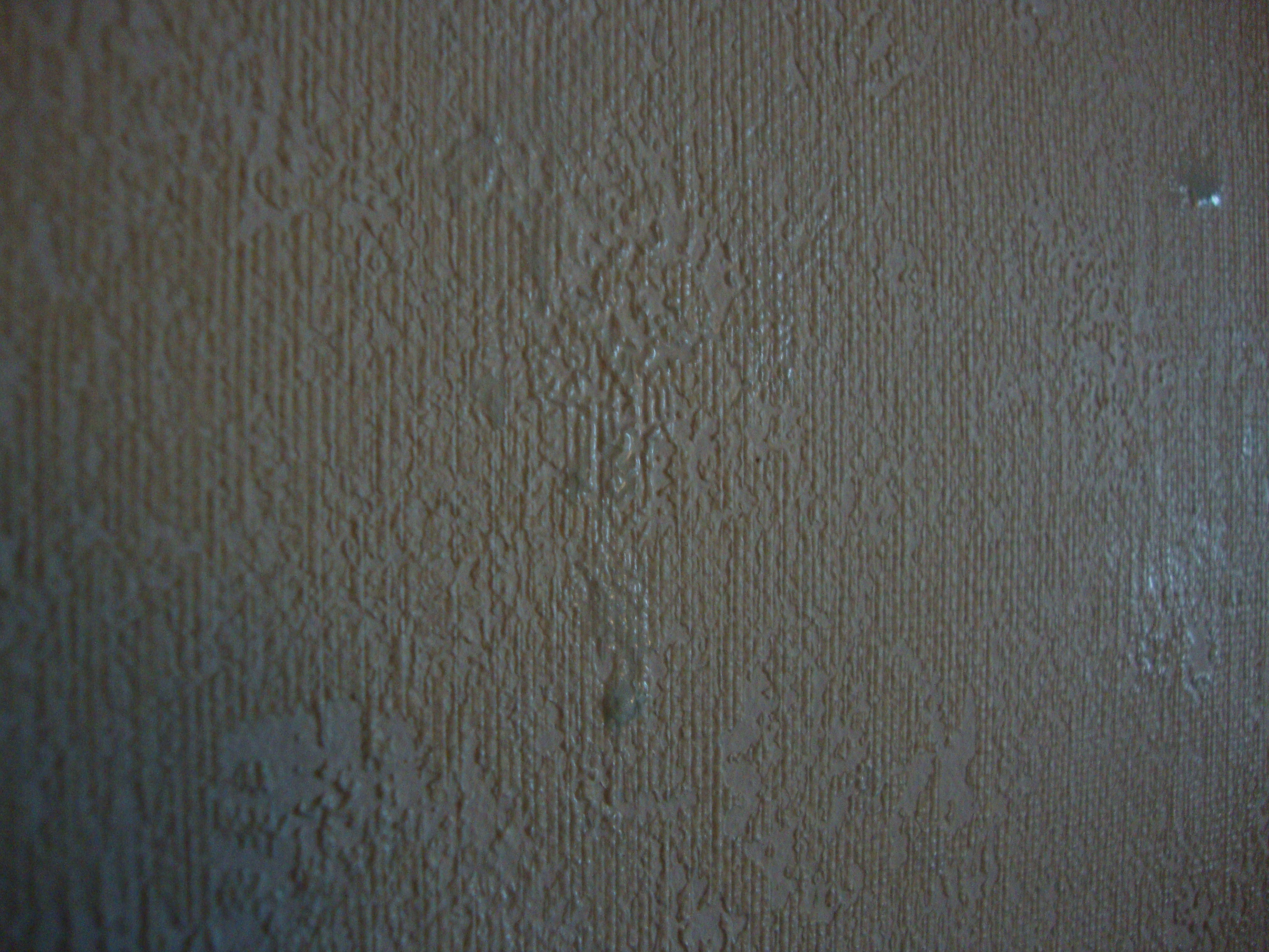 Ugly wallpaper: Annoying glue residue: Ok ...