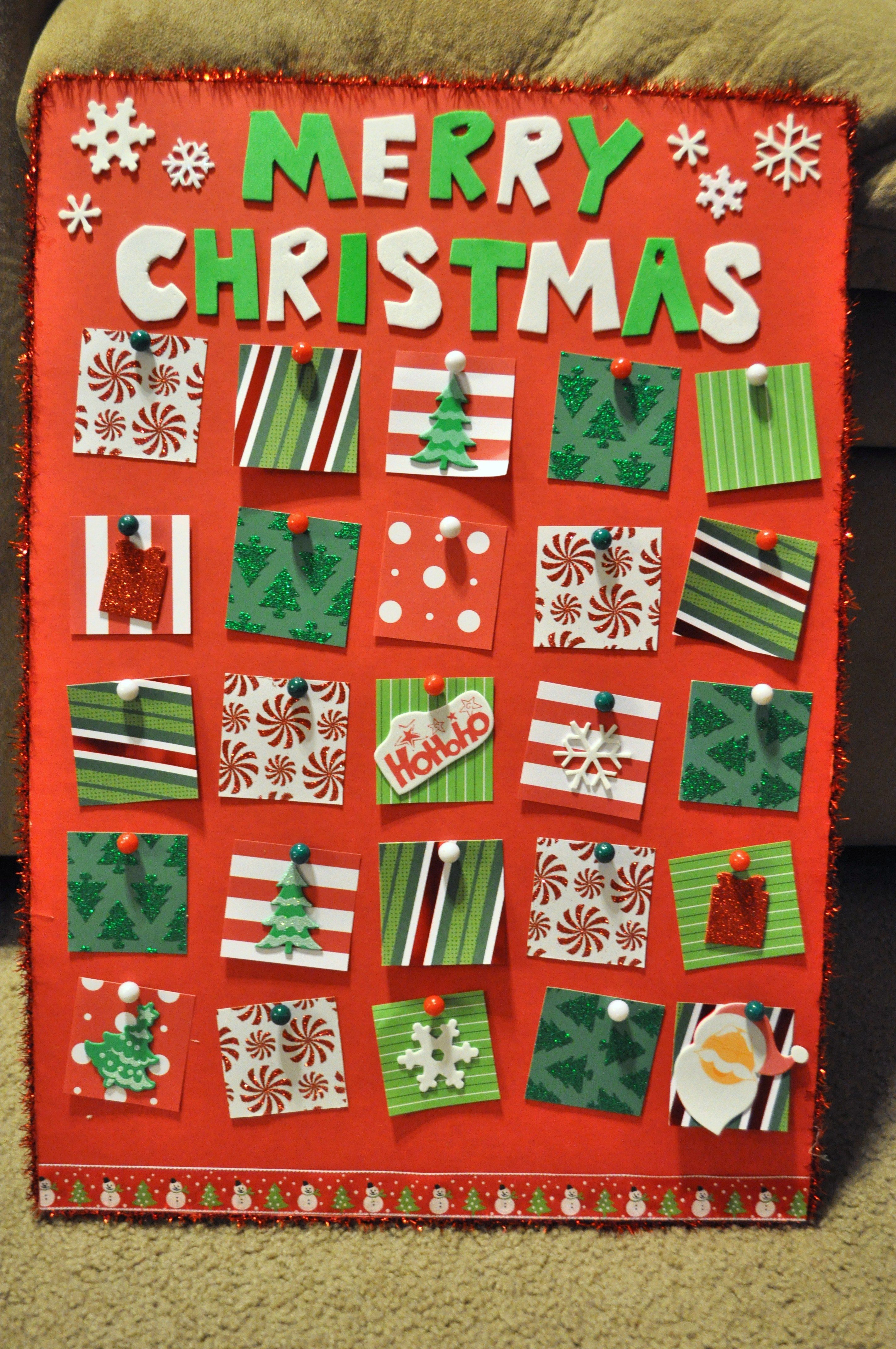 advent calendar activities for kids