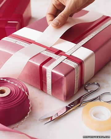 decorating with ribbon