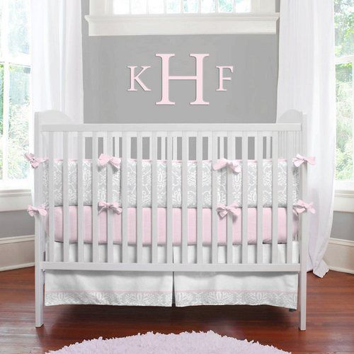 Pink And Gray Girls Baby Room: Inspiration For A Pink And Gray Baby Girl Nursery