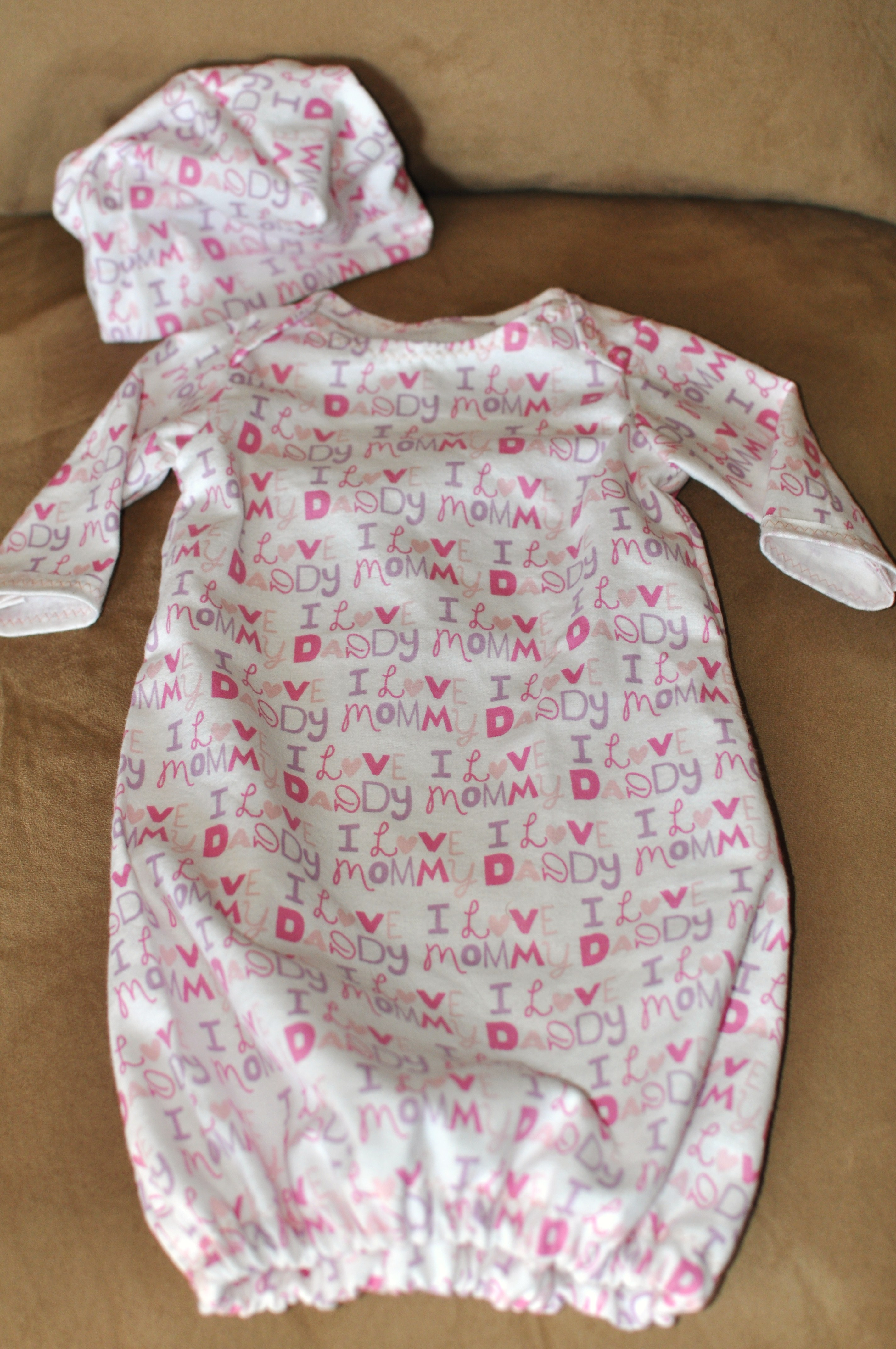 Craft time homemade crib sheets and baby gowns