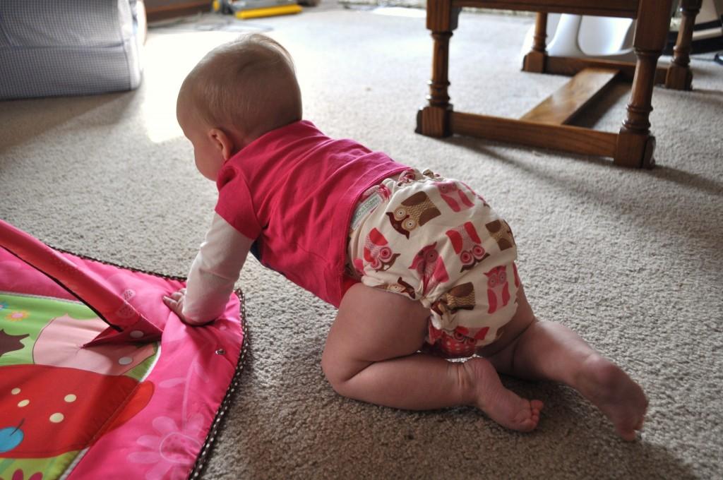 crawling baby