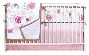 pink baby girl crib bedding