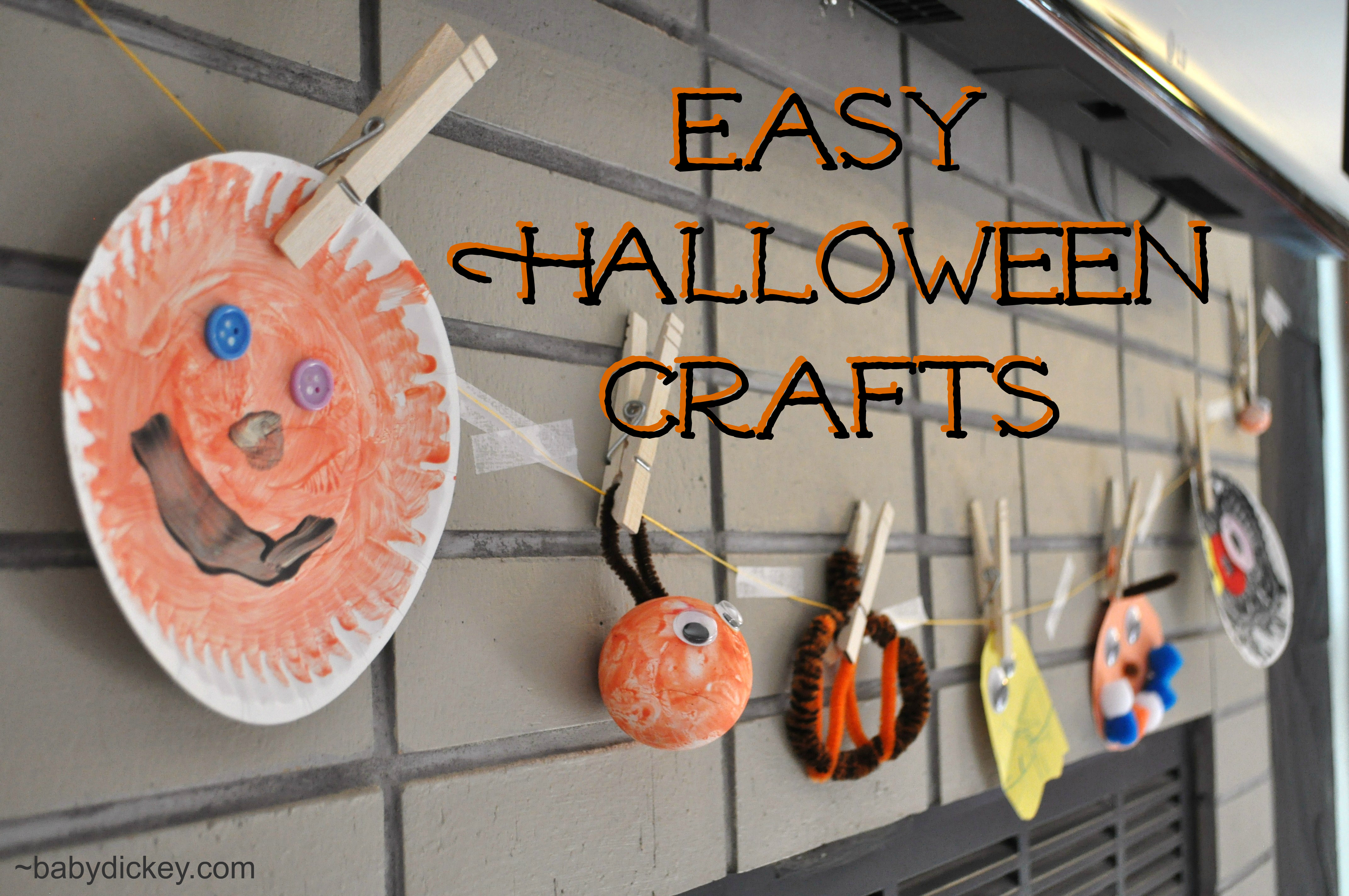 easy halloween crafts for toddlers