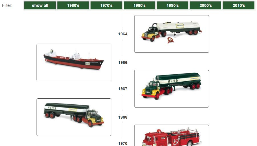 hess toy truck collection