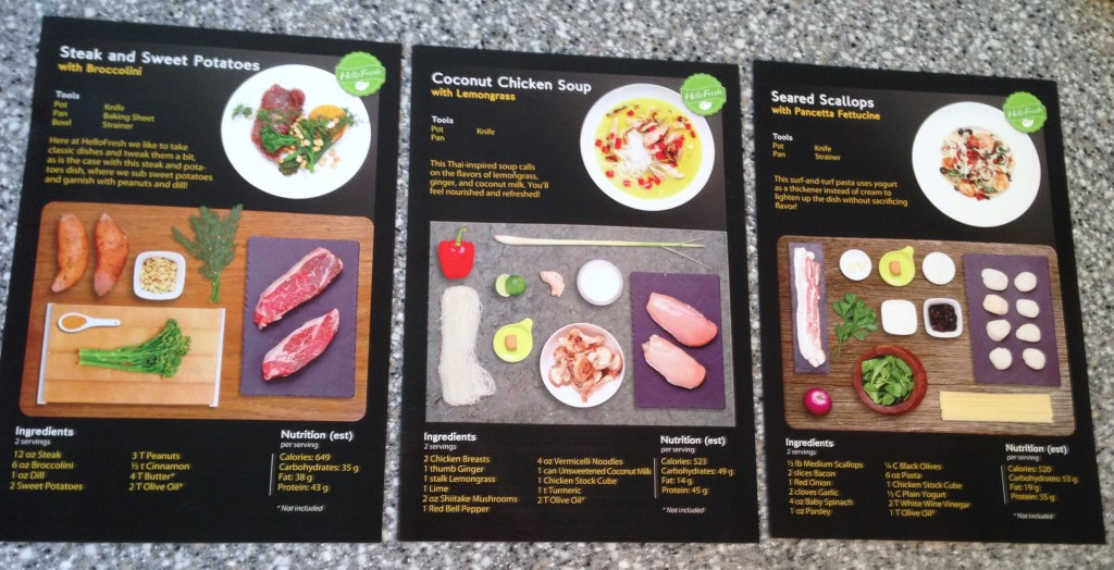 The Recipe Cards Are In Full Color With A Meal Description And Ingredient List On One Side Step By Photo Text Directions Other