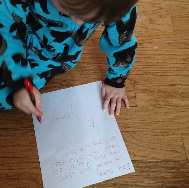 Dear santa send us your elf magic baby dickey ryan helped me write a letter to santa asking for an elf to come and visit omgosh he was so excited about the idea he told me what to write spiritdancerdesigns Choice Image