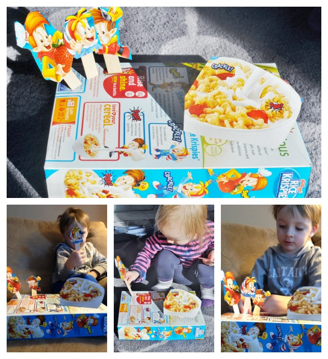 cereal box puppets