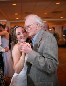 grandpa at wedding