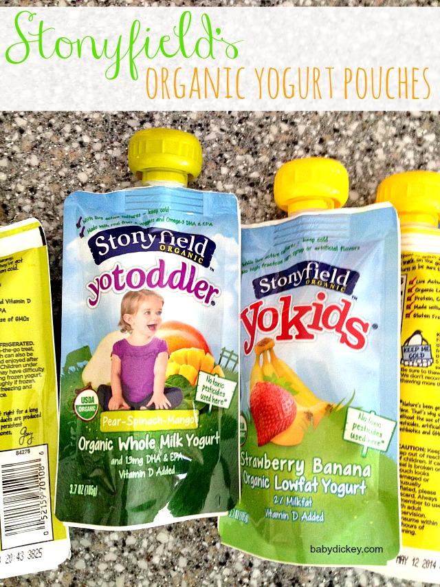 stonyfield's organic yogurt pouches
