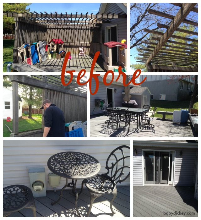 before outdoor oasis makeover