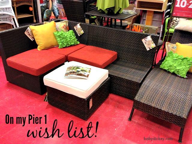 pier 1 wish list