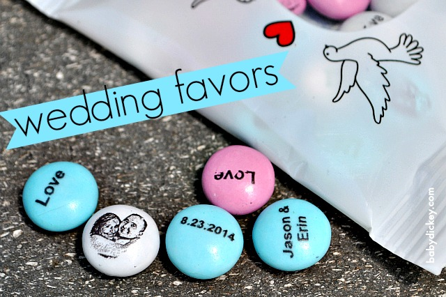 wedding favors: MY M&M'S