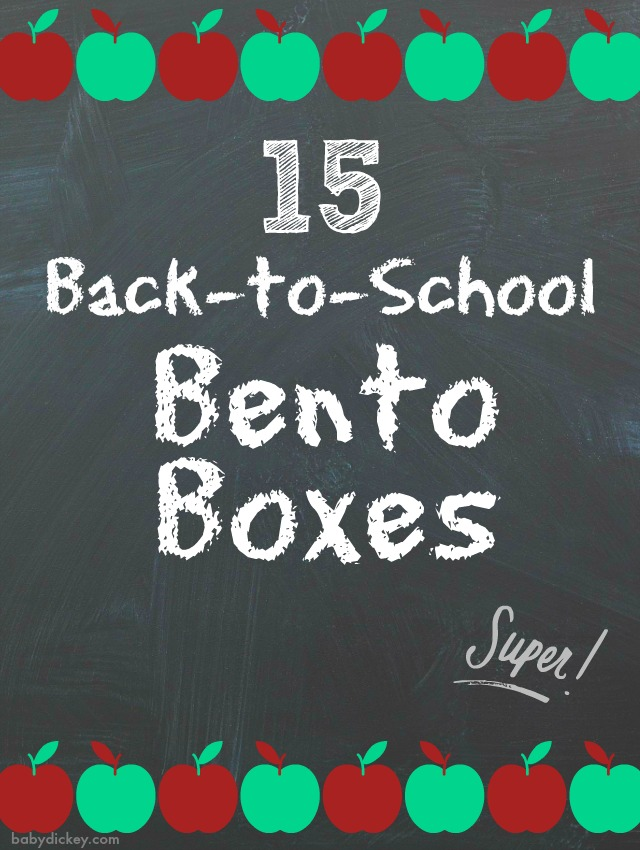 back to school bento boxes