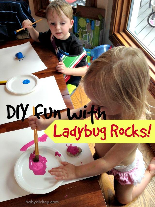 DIY ladybug rocks