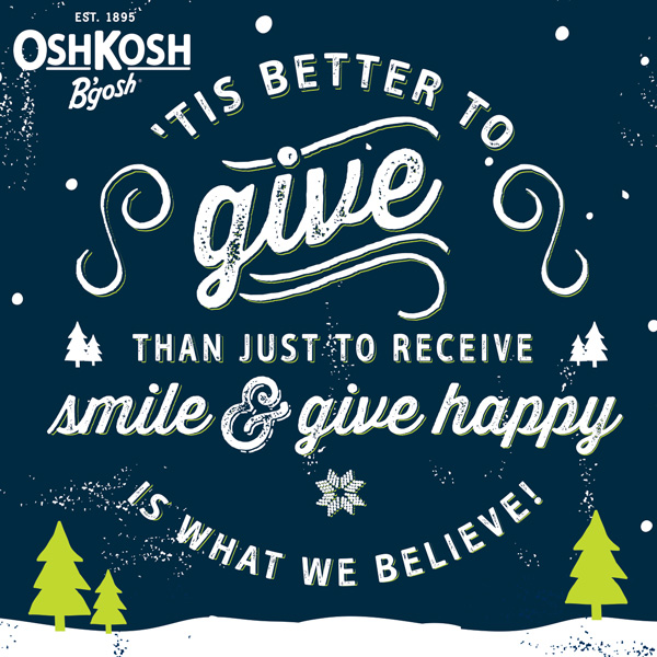 OshKosh give happy