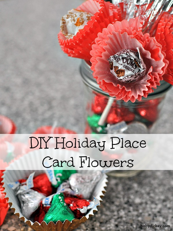 holiday place card flowers