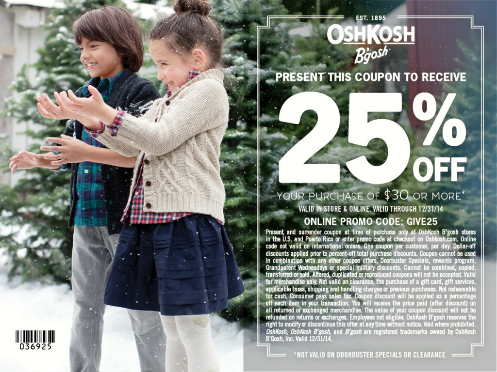 OshKosh December 2014 coupon