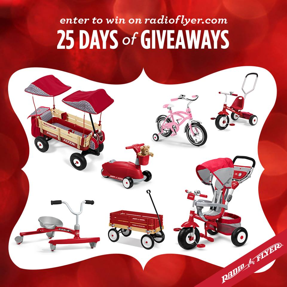 25 days of holiday giveaways with Radio Flyer