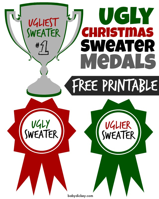 Ugly Christmas Sweater Medals