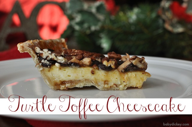 Turtle Toffee Cheesecake