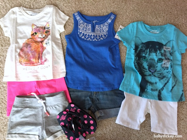 OshKosh B'Gosh girl's spring clothes