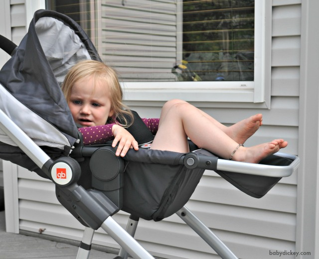 gb Evoq stroller reclined