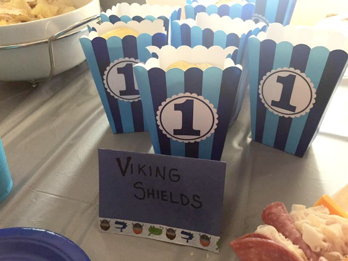 viking shields party food
