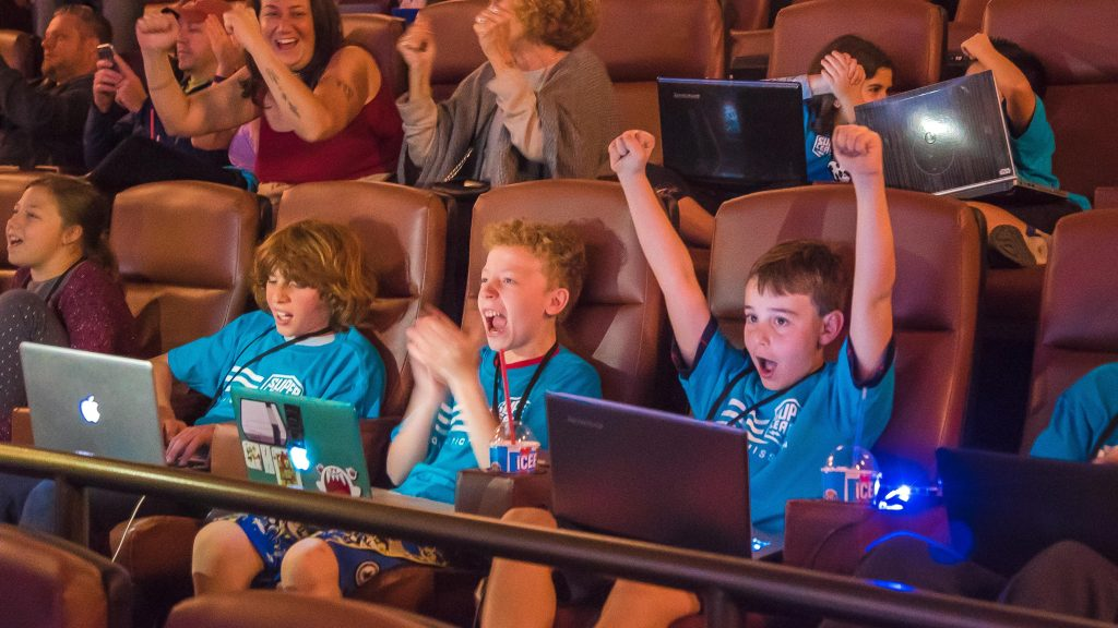 SLG Minecraft Players in Theater